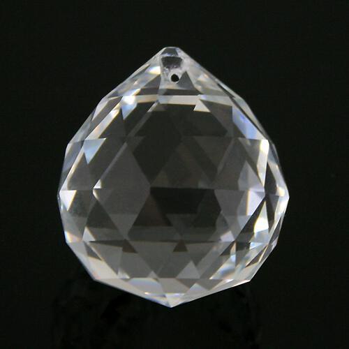 Sfera sfaccettata Ø40 mm in cristallo molato colore puro trasparente