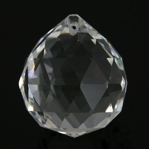 Sfera sfaccettata Ø50 mm in vetro molato, color cristallo