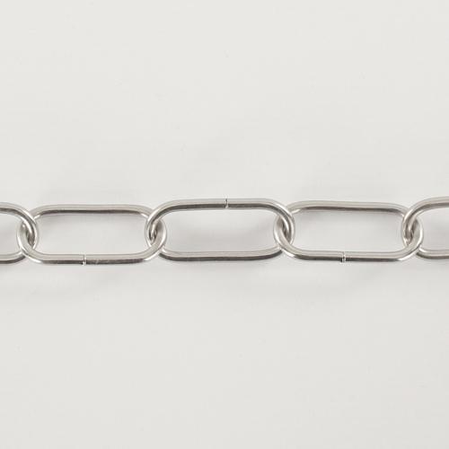 Spezzone 12 anelli catena Ø4 nickel - maglia lunga DIN