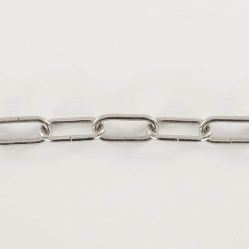 Spezzone 12 anelli catena Ø5 nickel - maglia lunga DIN