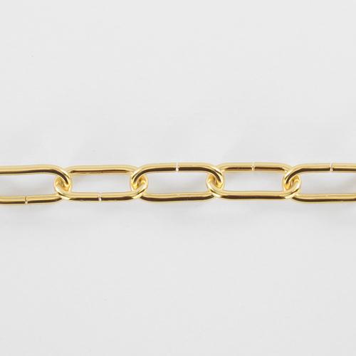 Spezzone 12 anelli catena Ø5 oro - maglia lunga DIN