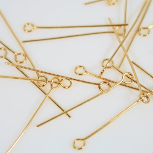 Spillo ad occhiello 30 mm bagno oro spessore 0,7 mm