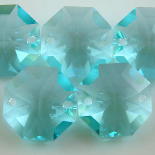 Swarovski - Cristallo ottagono doppio foro Antique Green 14 mm - 8116 -