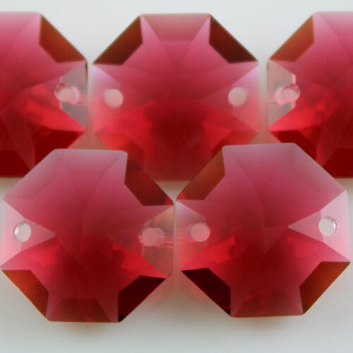 Swarovski - Cristallo ottagono doppio foro Bordeaux 14 mm - 8116 -