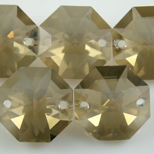 Swarovski - Cristallo ottagono doppio foro Golden Teak 14 mm - 8116 -