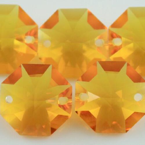 Swarovski - Cristallo ottagono doppio foro Topaz 14 mm - 8116 -