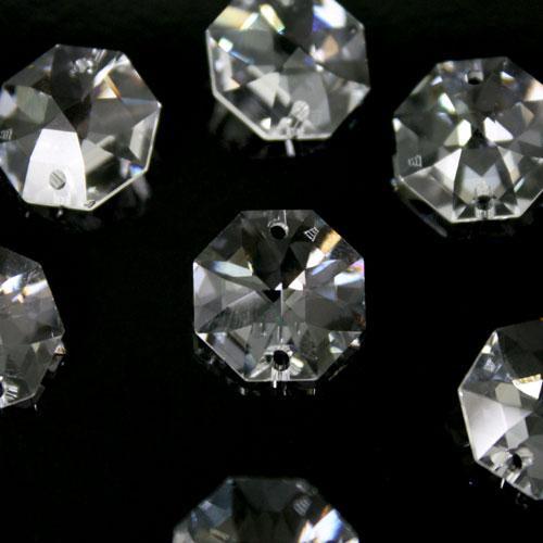 Swarovski - Cristallo ottagono doppio foro Trasparente 14 mm - 8116 -