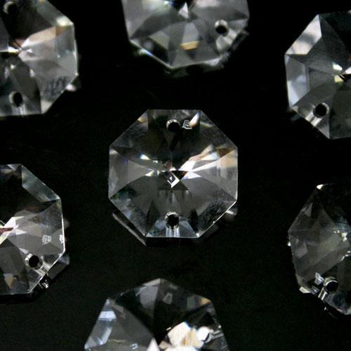Swarovski - Cristallo ottagono doppio foro Trasparente 16 mm - 8116 -