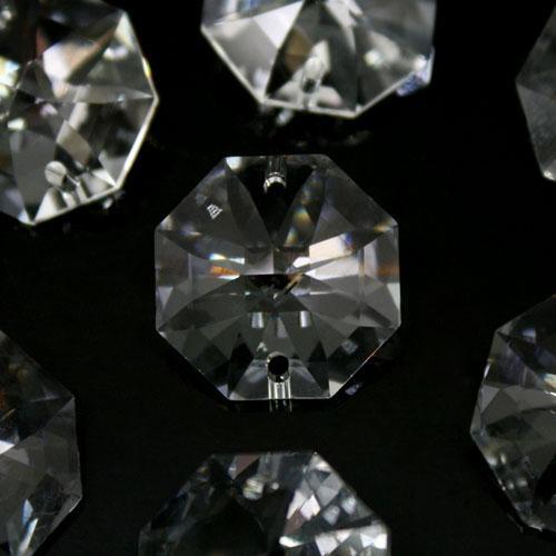 Swarovski - Cristallo ottagono doppio foro Trasparente 20 mm - 8116 -