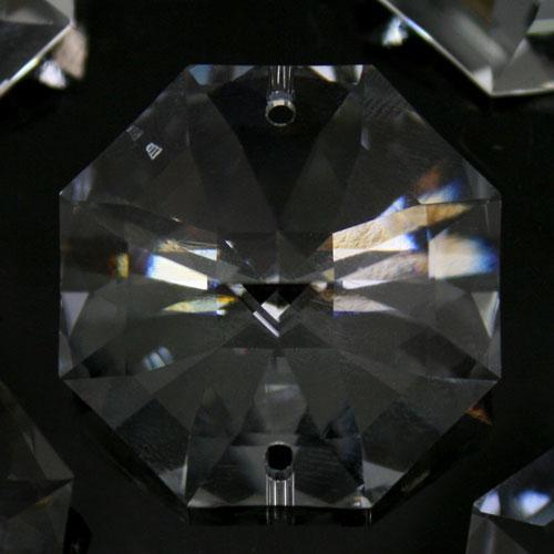 Swarovski - Cristallo ottagono doppio foro Trasparente 30 mm - 8116 -