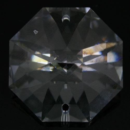 Swarovski - Cristallo ottagono doppio foro Trasparente 32 mm - 8116 -