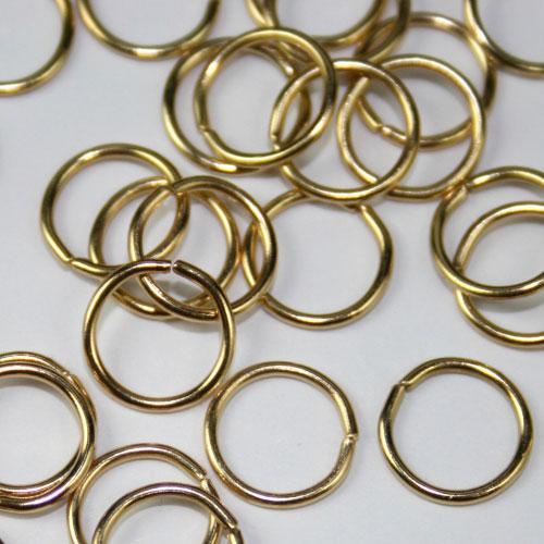 Anello Ø10 mm in bagno oro per catene di cristalli, perle e vetri.