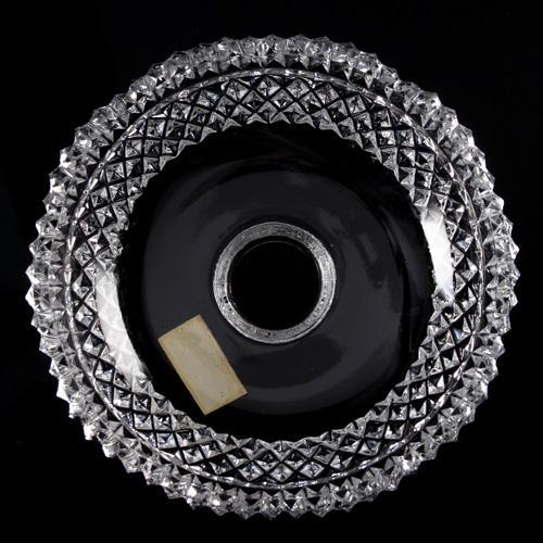 Bobeche lampadari cristallo Boemia Ø15 cm, foro Ø23 mm, con 5 fori laterali. Tazza lampadari molata a mano.
