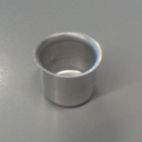 Bossola in alluminio #6 con foro. Misure Ø22,5  per ingessatura lampadari vetro Murano