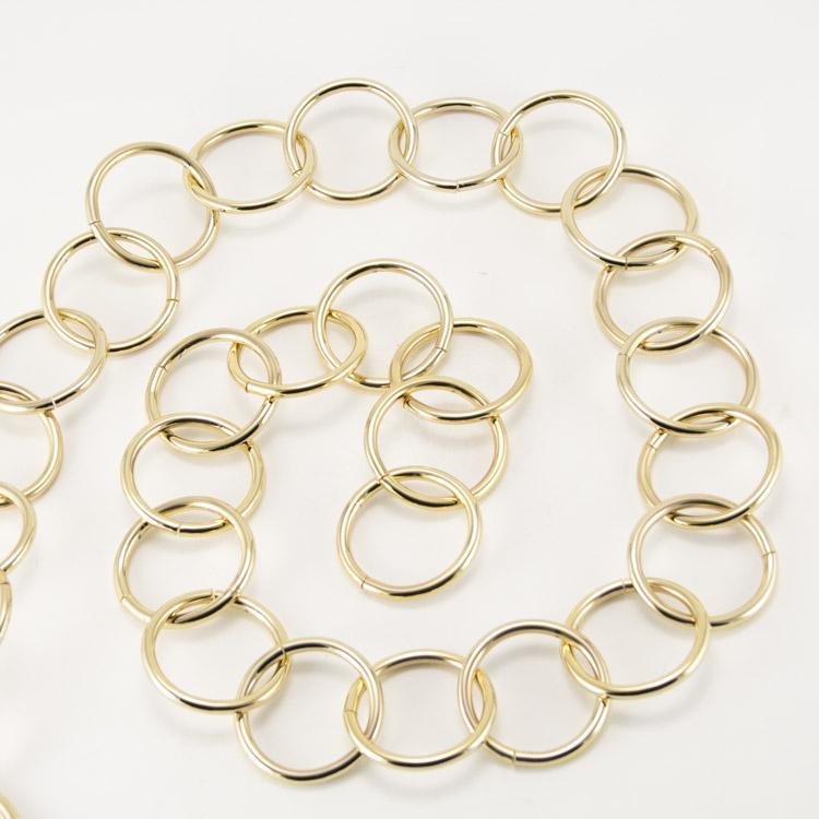 Catena metallica oro maglia tonda 4,8x40 mm per lampadari