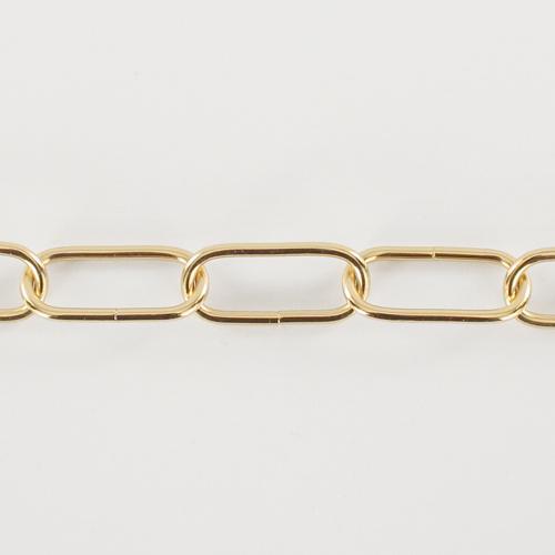 Catena per lampadari oro 12 anelli maglia genovese Ø4