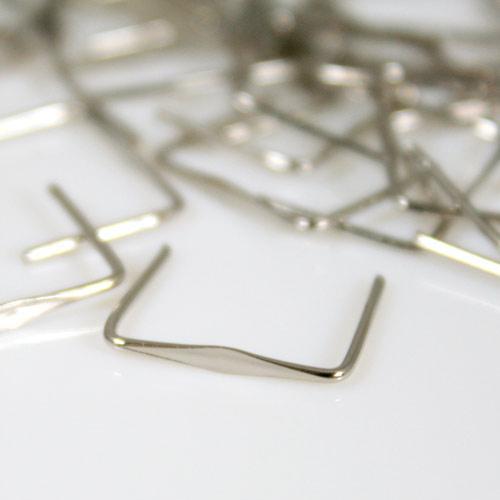 Clip 14 mm liscia nickel per agganci cristalli con gambo 11