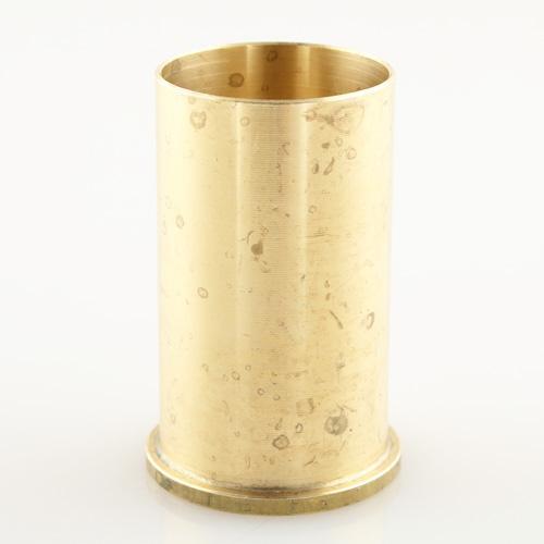 Copri portalampada ghiera E14 ottone grezzo Ø35 x h55 mm con zoccolo
