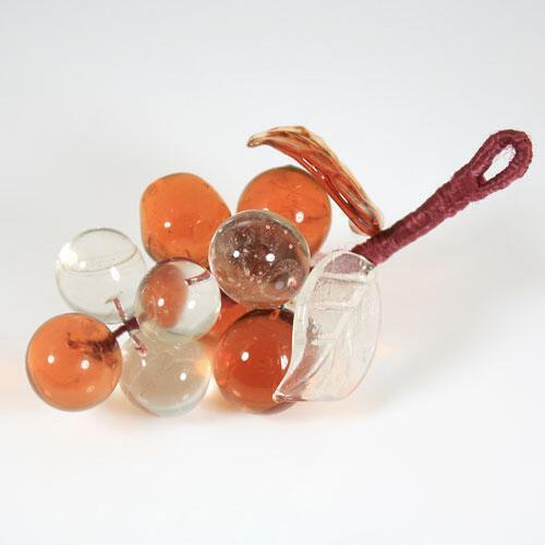 Grappolo d'uva in vetro di Murano fatto a mano
