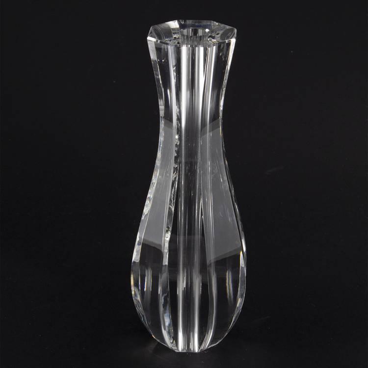 Infilaggio bottiglia in cristallo molato Ø70x200 mm con foro 14 mm per lampadari cristallo