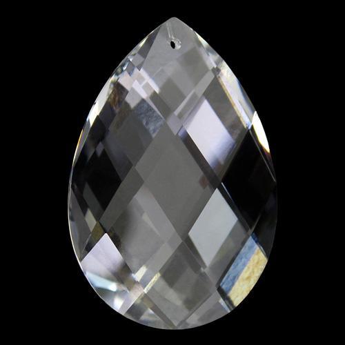 Mandorla Spectra Swarovski taglio a rete da 38 mm, color cristallo.