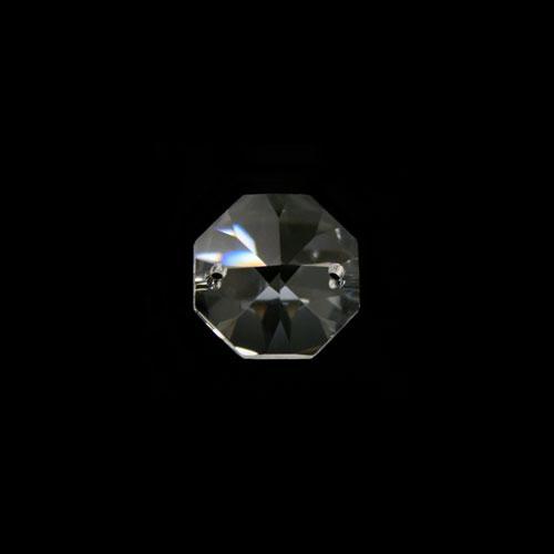 Ottagono 12 mm cristallo sfaccettato due fori -Asfour 1080-