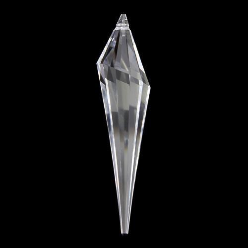 Pendaglio a cono Swarovski, forma prismatica color cristallo, 76 mm - 8950 301