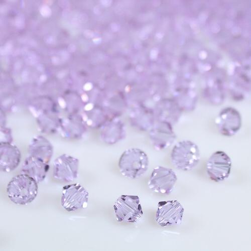 Perla bicono Violet 4 mm cristallo Swarovski 5328 bead