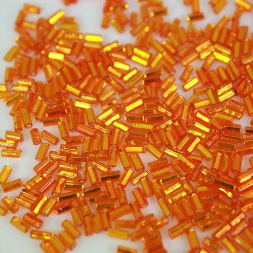 Perline di conteria arancione Ø4 mm vetro di Murano