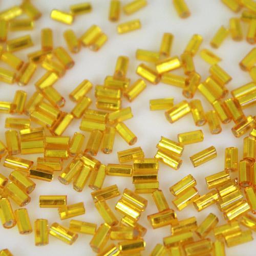 Perline di conteria cannette giallo oro 5 mm vetro di Murano