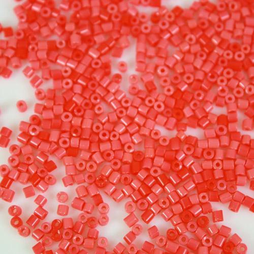 Perline di conteria rosso corallo Ø2,5 mm vetro di Murano