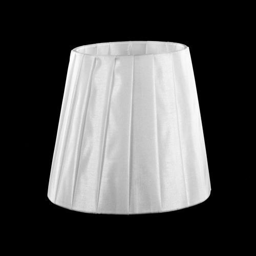 Paralume tronco cono Ø13 x Ø9 x h12 cm - cotonette plissè bianco - attacco a molla