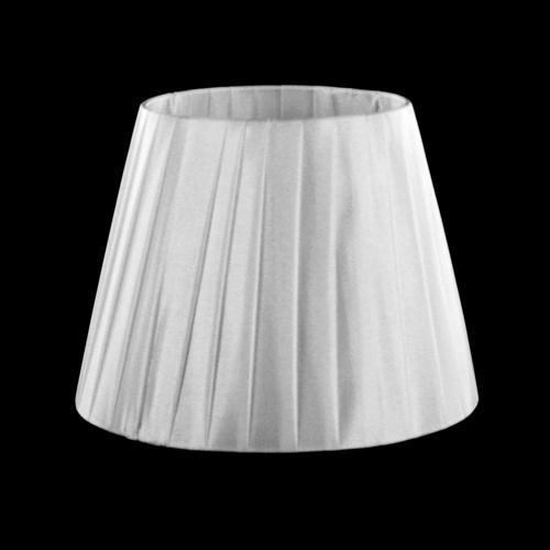 Paralume tronco cono Ø22 x Ø14 x h16 cm - cotonette plissè bianco - attacco E14