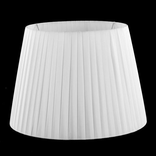 Paralume tronco cono Ø35 x Ø25 x h22 cm - cotonette plissè bianco - attacco E27