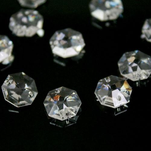 Swarovski - Cristallo ottagono doppio foro Trasparente 10 mm - 8116 -