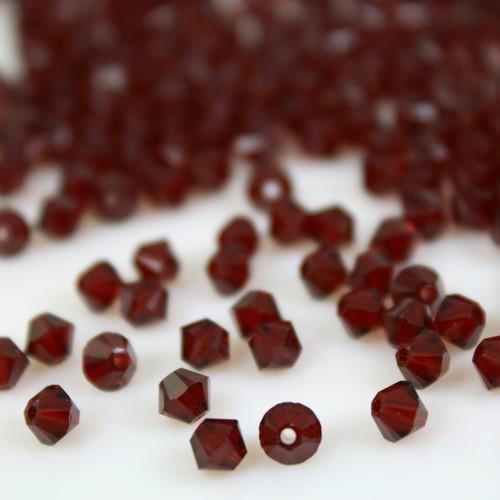 Perla bicono Siam 4 mm cristallo Swarovski 5328 bead