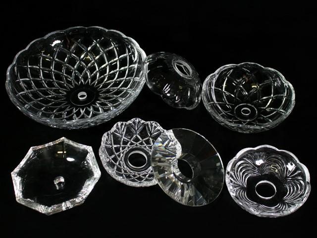 Bobeche lampadari Vetro veneziano Ø 10 cm, foro Ø 12 mm, NO fori laterali.