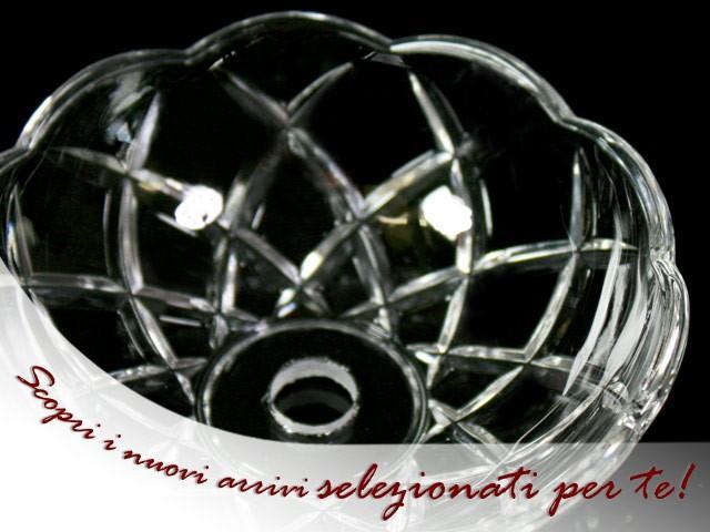 Bobeche lampadari Vetro veneziano Ø 10 cm, foro Ø 24 mm, con 4 fori laterali.