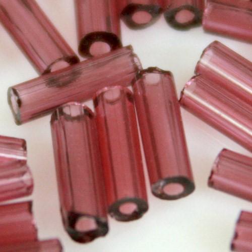 Perline di conteria a cannetta ametista, 4 mm