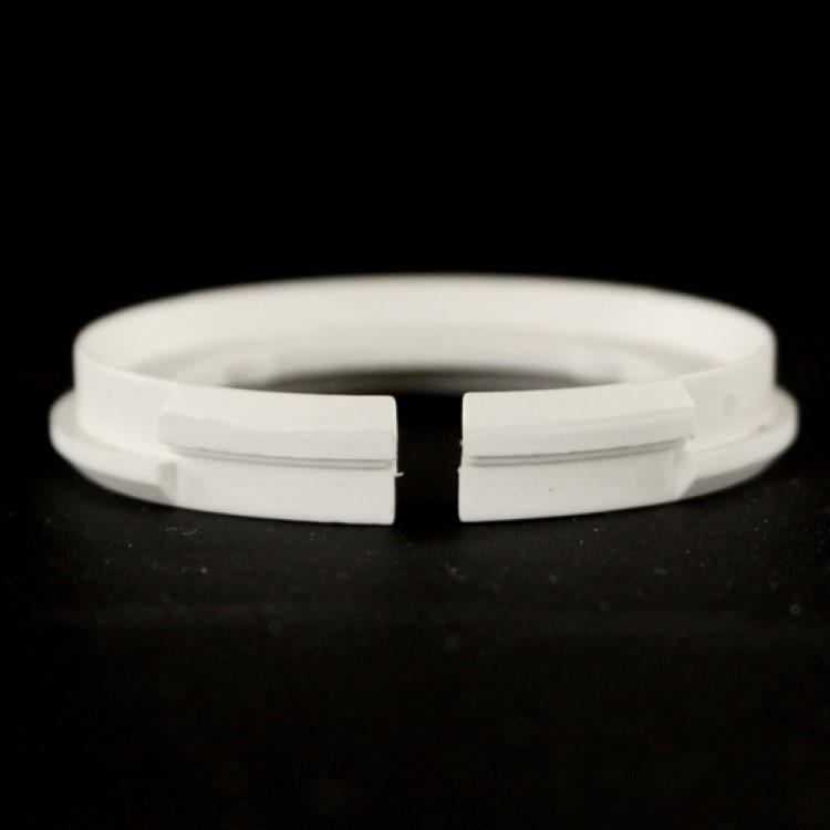 Anello adattatore plastica bianca riduzione E27-E14 per attacco paralume