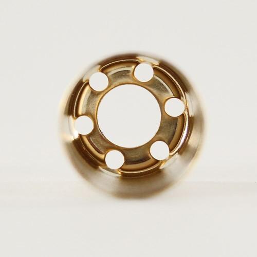 Bicchierino metallico G9 Ø21 x h40 finitura oro lucido
