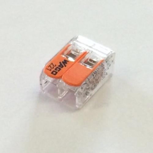 Connettore elettrico 2 poli grigio 4 mmq - art. 221-412 Wago