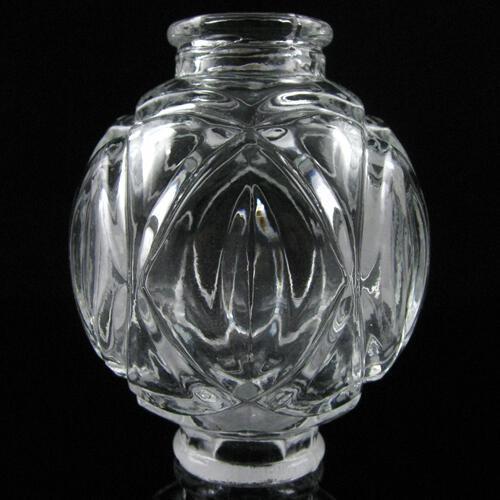 Infilaggio a sfera Etoile in vetro cristallino, altezza 9 cm.