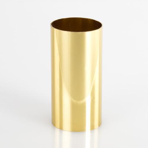 Copri porta-lampada 30 x 60 mm per lampada E14 oro lucido galvanico.