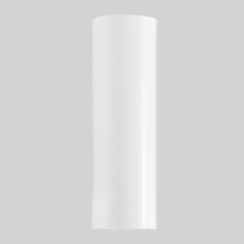 Guscio copri porta-lampada E14 bianco liscio in plastica h 100 mm (no nippel per attacco elettrico)