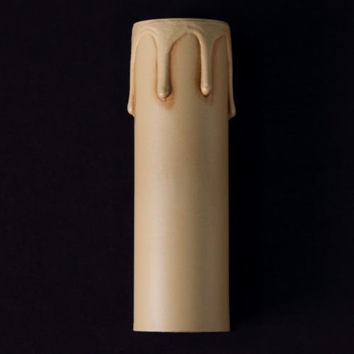Guscio E14 h 85 mm copri porta-lampada avorio anticato finta candela plastica