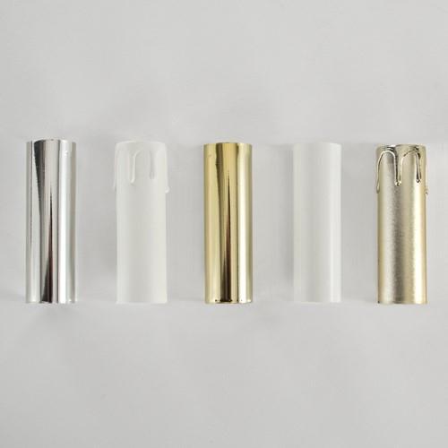 Portalampada a candela 65 mm completo nippel - staffa - anima e guscio bianco