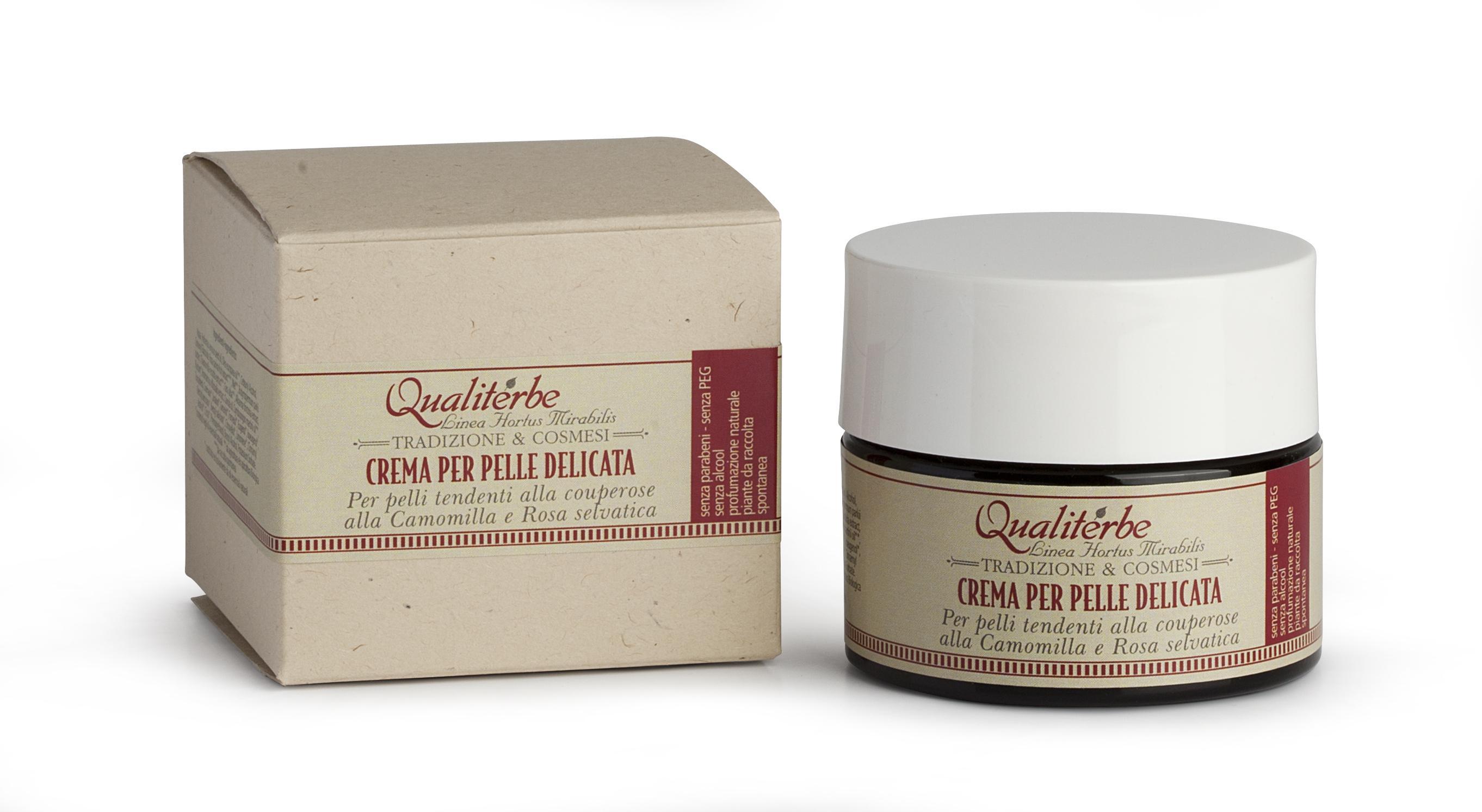 Crema per pelle delicata alla Camomilla 2% Rosa selvatica 4%