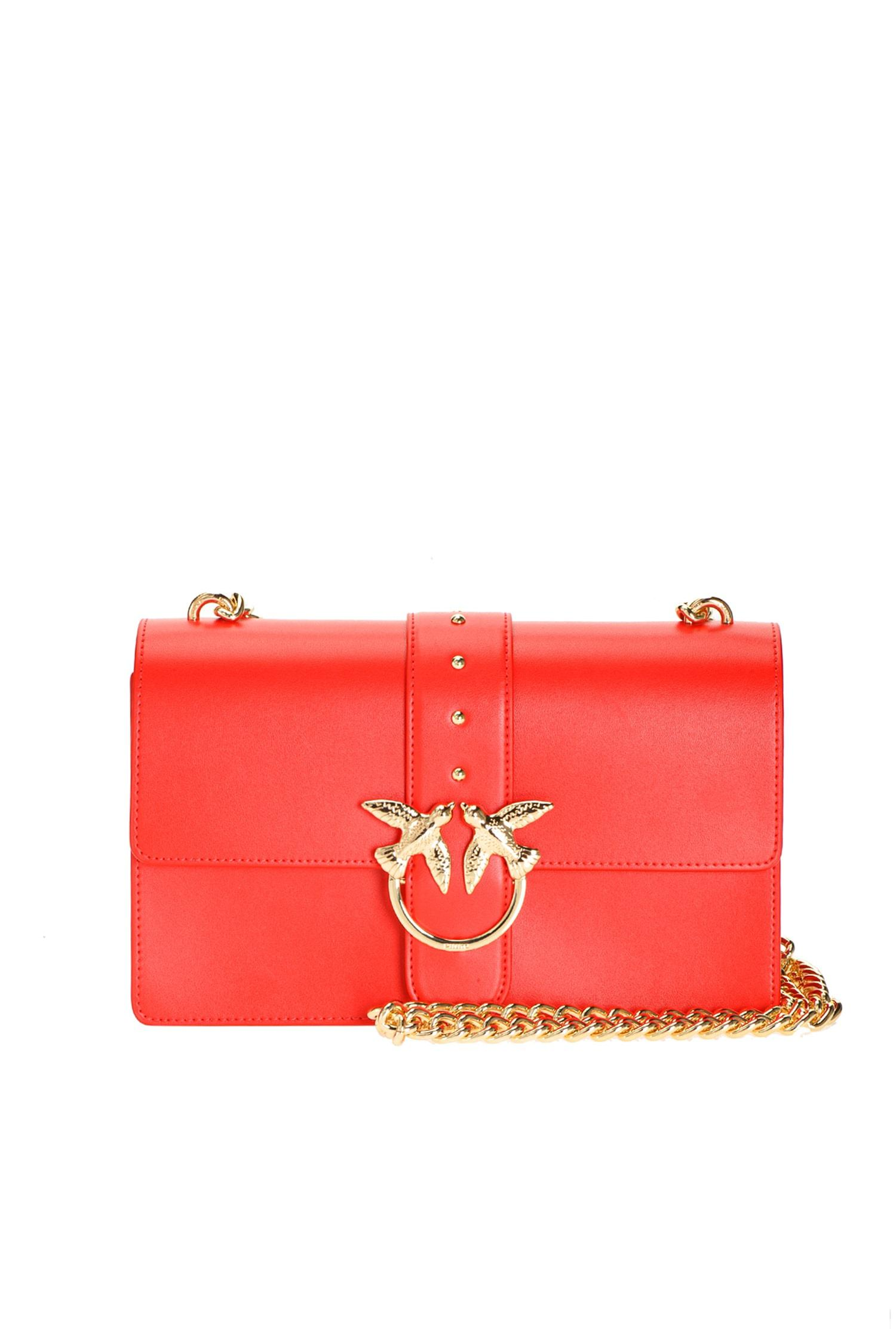 Love bag in pelle rossa Pinko.