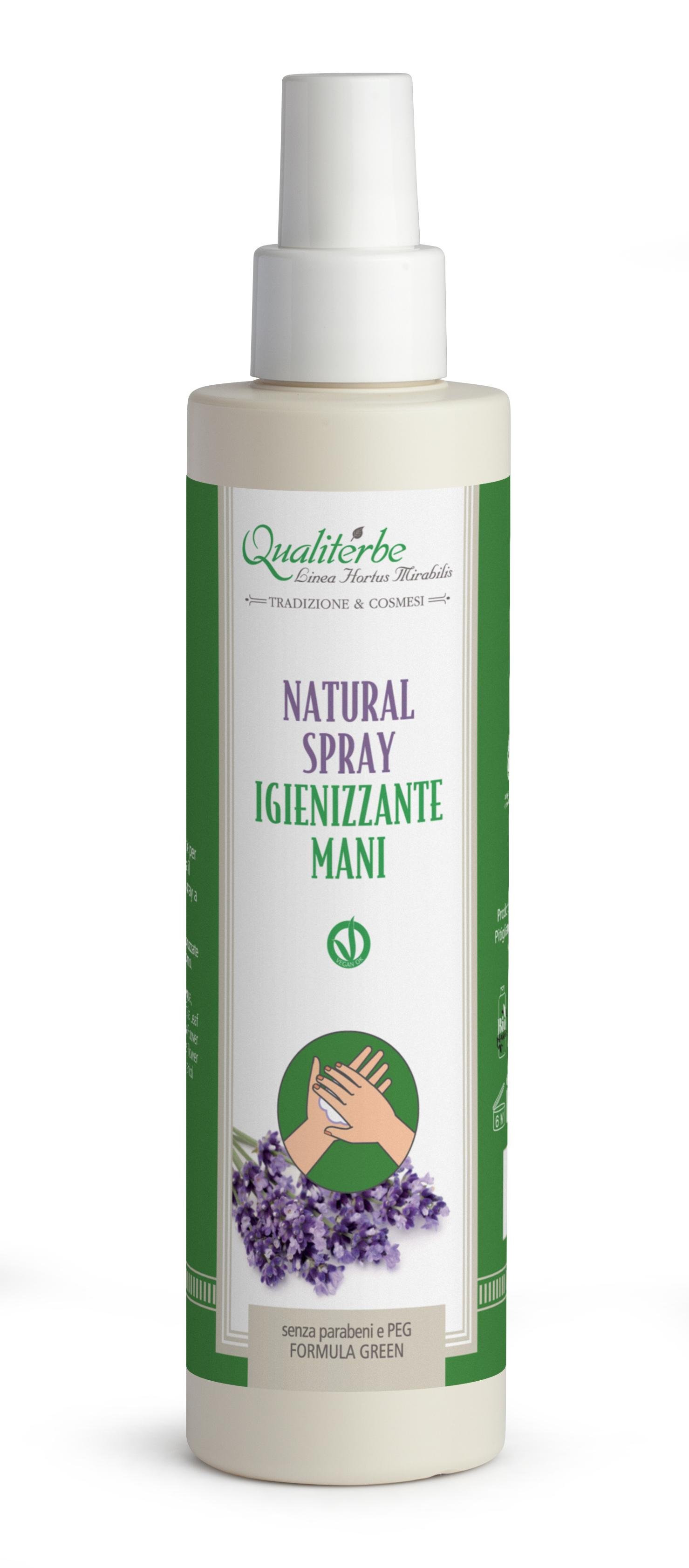 Natural Spray Igienizzante Mani 200 ml 100% naturale (Alcool Bio 60%)